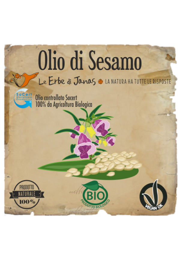 Erbe di janas olio di sesamo pelle massaggi henn - Olio di sesamo per cucinare ...